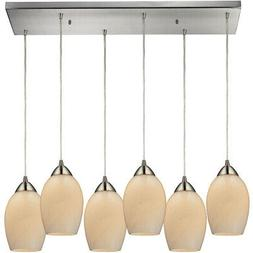 ELK Lighting 10222/6RC-COC Favela Mini Pendant Satin Nickel