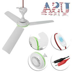 12V Solar 3 Blade Ceiling Emergency Fan Powerful Caravan Cam