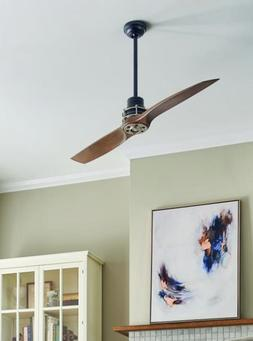 "2-Blade Ceiling Fan for Bedroom 56"" Large Two Contemporary R"