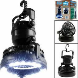 2-in-1 Portable LED Lantern with Ceiling Fan Camping Tent Tr