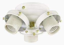 Savoy House 3 Light White Ceiling Fan Light Kit