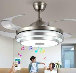 "36""/42"" Bluetooth Invisible Fan LED Ceiling Light Music Play"