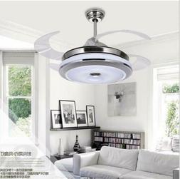 """36""""/42"""" Invisible Bluetooth LED Ceiling Fan Light Music Play"""