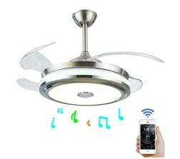 "36"" Modern Ceiling Fan Light with Smart Bluetooth Music Play"