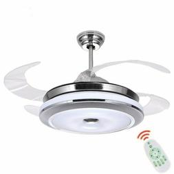 """36"""" Modern Ceiling Fan Lights with Retractable Invisible Bla"""