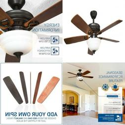 Hyperikon 42 Inch Ceiling Fan, with Remote, Classical Style,
