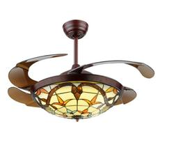 42 Inch Frequency Conversion Ceiling Fans with Lights and Re