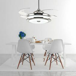 """42"""" Retractable Ceiling Fans with Dimmable LED Light and Rem"""