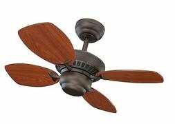 "Monte Carlo 4CO28RB Colony II Ceiling Fan, 28"", Roman Bronze"