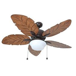 5-Blades Ceiling Fan with Light Kit For Indoor Outdoor Home