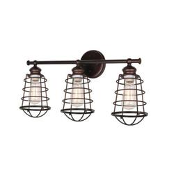 Design House 519736 Ajax 3-Light Textured Coffee Bronze Indo