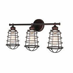 Design House 519736 Ajax 3 Light Vanity Light Bronze