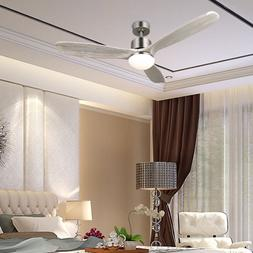 """52"""" Ceiling Fan Light Brushed Nickel with 15W LED & Remote"""