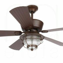 """52"""" Ceiling Fan with Light Kit and Remote Downrod Mount In"""