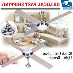 52 inch 1300mm 4 Blade LED Ceiling Fan with Light Lamp & Rem