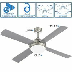 52 Inch 220V Reversible Four-Blade Indoor Ceiling Fan with R