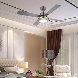 52-inch Ceiling Fan Light Brushed Nickel Finish w/ 15W LED &