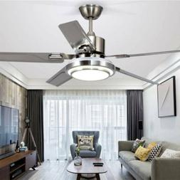"52""  Indoor Control Remote Ceiling Fan with LED Light Remote"