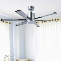 52''Industrial Ceiling Fan with 6 Aluminum Fan Blades /White