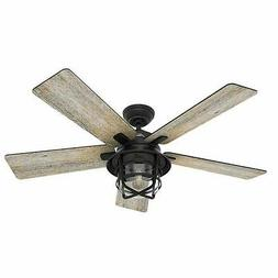 """Hunter 54"""" LED Indoor & Outdoor Coral Gables Ceiling Fan, We"""