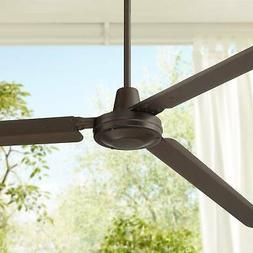"72"" Modern Outdoor Ceiling Fan Oil Rubbed Bronze Damp Rated"