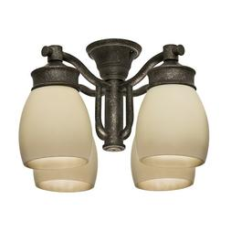 Casablanca 99087 Aged Bronze Outdoor 4 Light Fixture with Te