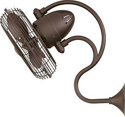 """Matthews ME-TB, Melody Bronze 13"""" Outdoor Wall Fan with Wall"""