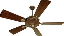"Aged Bronze 54"" Ceiling Fan With Walnut Plus Series Blades A"