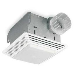"BROAN 678 Ceiling Bathroom Fan, Lighted, 50 cfm, 4"" Duct Dia"