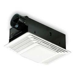 "BROAN 655 Ceiling Bathroom Fan, Lighted, 70 cfm, 4"" Duct Dia"