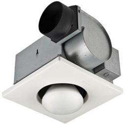 "Nutone Bathroom Fan, 70 CFM 1Bulb Lamp Heater for 4"" Duct"