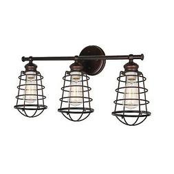Brand New Design House 519736 Ajax 3 Light Vanity Light, Bro