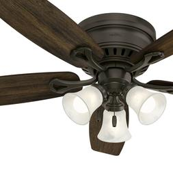 Hunter Fan 52 inch Bronze Traditional Ceiling Fan with Swirl