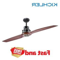 Ceiling Fan 56-in Satin Black Antique Pewter Indoor Downrod