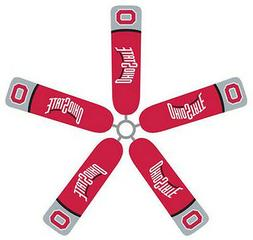 Ceiling Fan Blade FABRIC Covers OHIO STATE UNIVERSITY 5pcs h