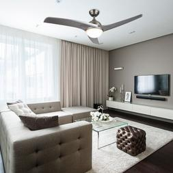 Ceiling Fan with Lights&Remote Control Silver Color Blades C