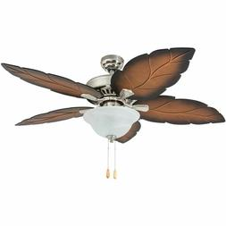 Ceiling Fan with Lights Brushed Nickel Chandelier Light Remo