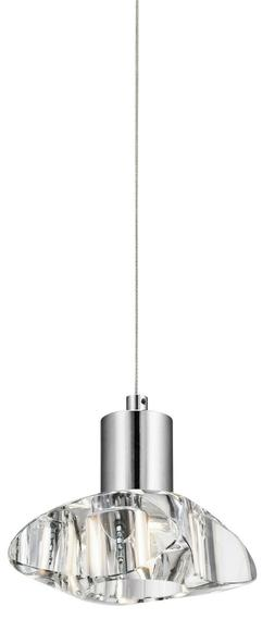 Chrome Renzu LED Mini Pendant Ceiling Light Fixture