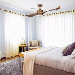 Contemporary Ceiling Fan with LED Panel Light & Remote Natur