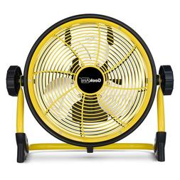 Geek Aire Cordless 10 in. Variable Speed Floor Fan with Powe