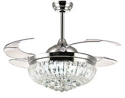 Siljoy Dimmable Ceiling Fans with Lights and Remote 3 Color