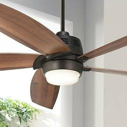"56"" Casa Ecanto Oil-Rubbed Bronze LED Ceiling Fan"