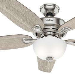 Hunter Fan 54 in Casual Brushed Nickel Ceiling Fan w/ Light