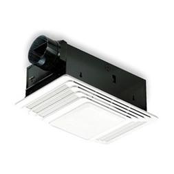 100 CFM Exhaust Bathroom Fan with Light, In Line, 3.1 to 4,