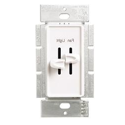 Fan Control-Quiet 3 Speed And Dimmer White