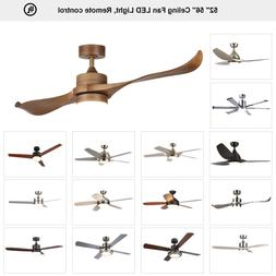 Indoor Ceiling Fan 15W LED Light With Remote. Control 2 3 4
