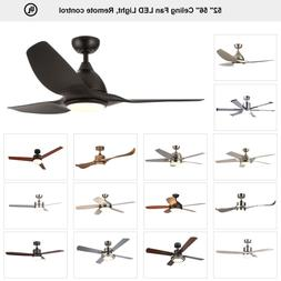 """Ceiling Fan 52"""" 56'' Brushed Nickel / Old Bronze with LED Li"""