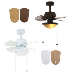 Indoor Ceiling Fan with Lights Home Decor 3-Speed  White/Bro