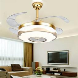 Invisible Ceiling Fan With Lights Remote LED Ceiling Fans Li