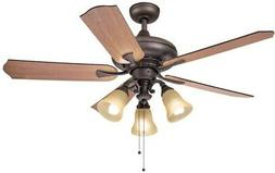 Kichler Lighting Traditional Bronze 52 inch Ceiling Fan with